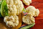 pieces of cauliflower