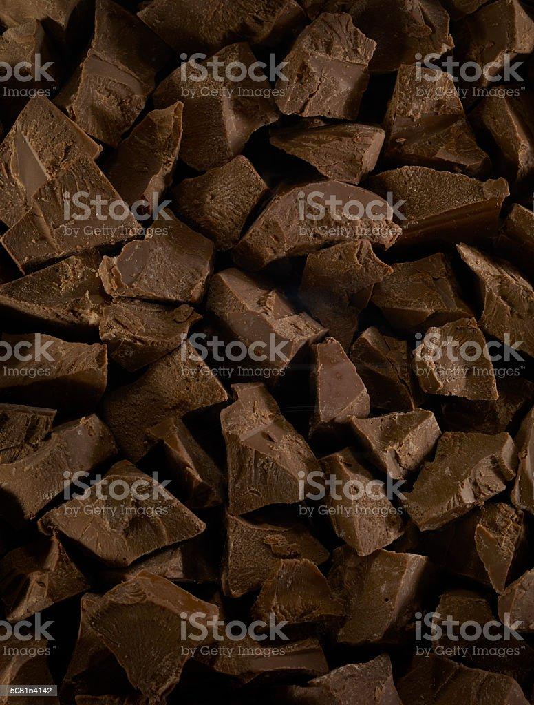 Pieces of chocolate bars stock photo