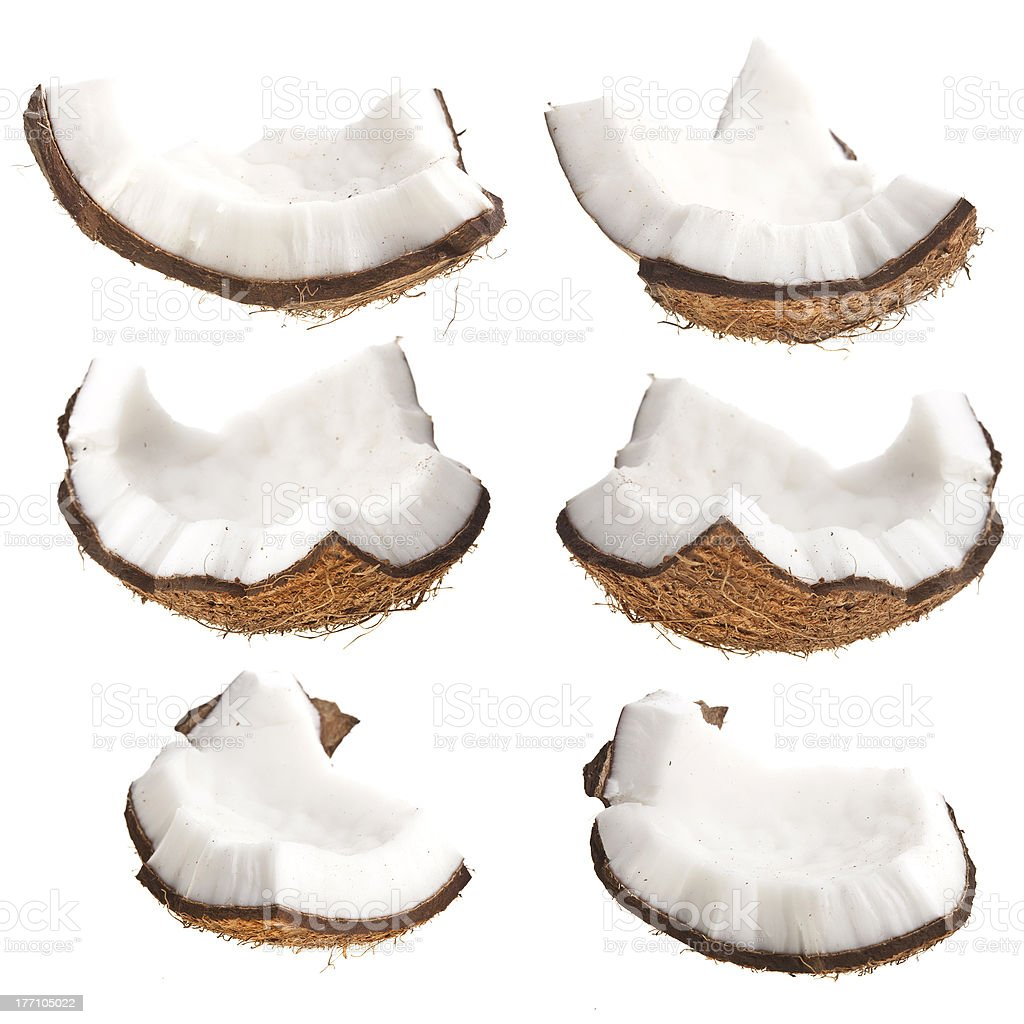Pieces of coconut stock photo