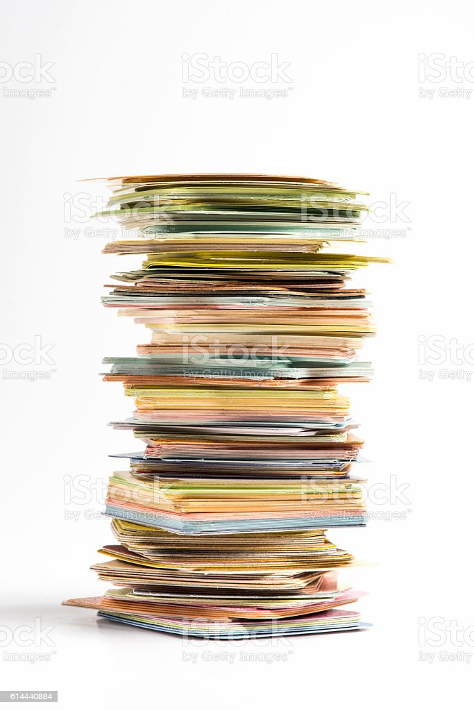 Pieces of color paper chart stock photo