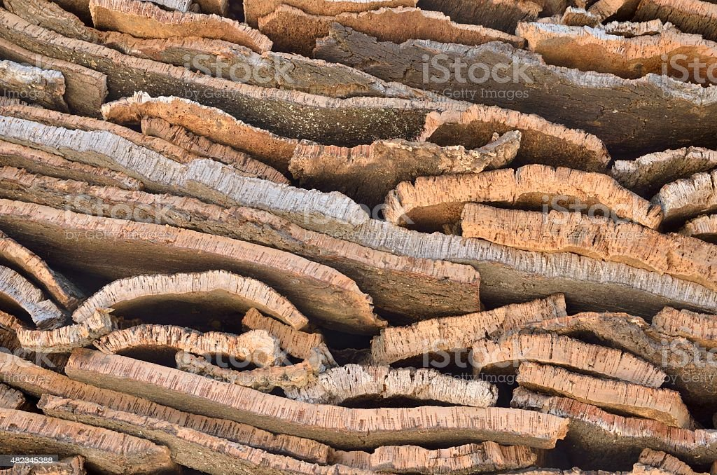 Pieces of cork stock photo