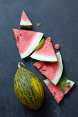 pieces of fresh watermelon