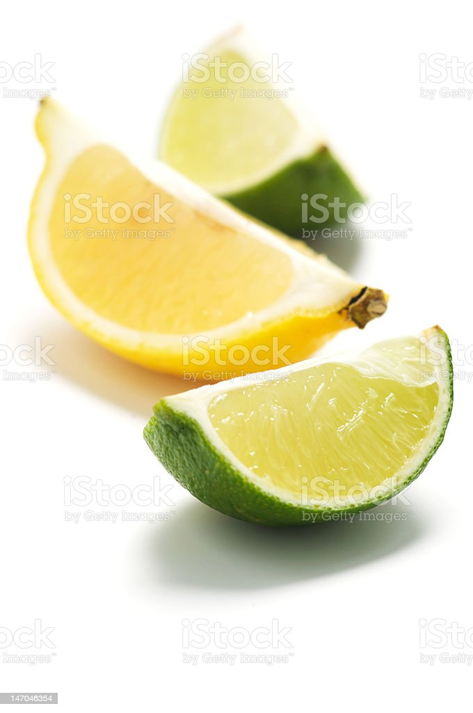 A pieces of lime and lemon royalty-free stock photo