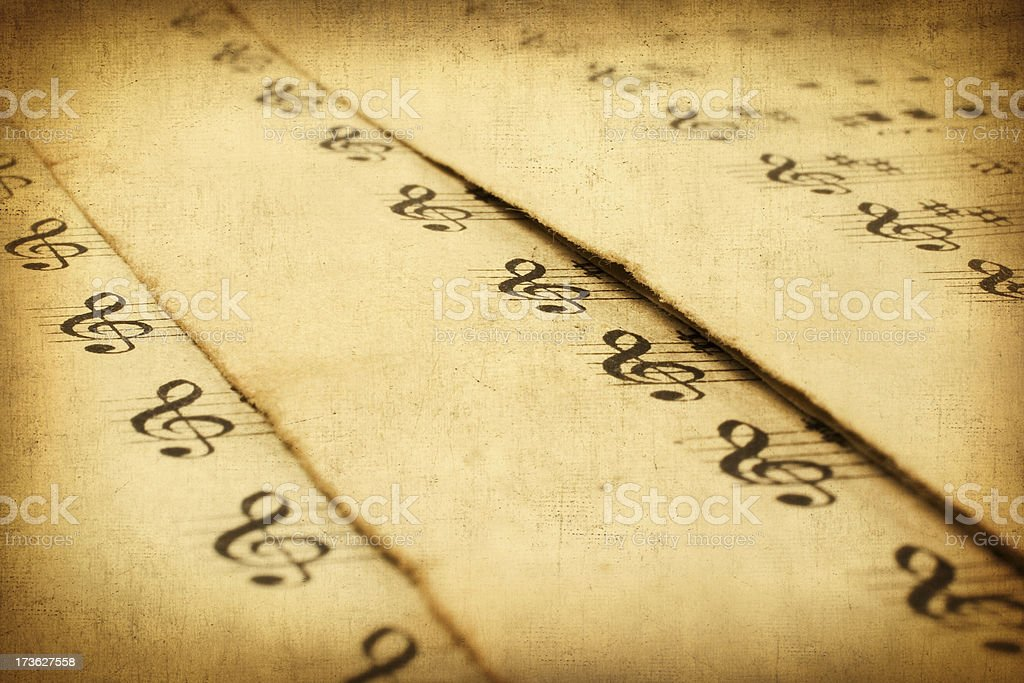 Pieces of music compositions royalty-free stock photo
