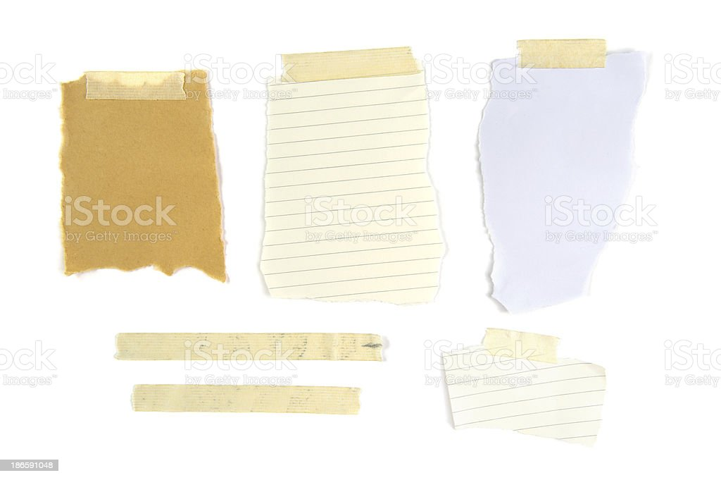 Pieces of Notepaper royalty-free stock photo
