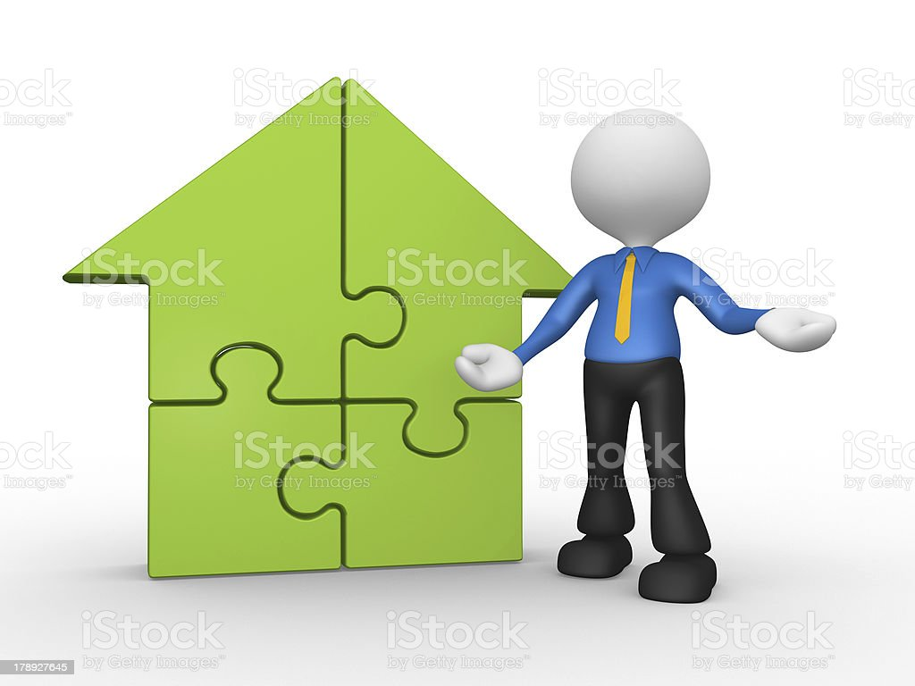 Pieces of puzzle royalty-free stock photo