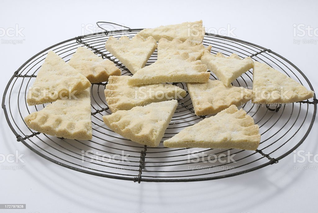 pieces of shortbread on cooling rack royalty-free stock photo