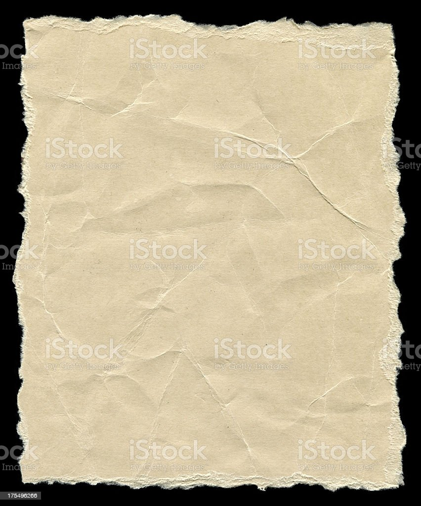 Pieces of torn paper background textured isolated royalty-free stock photo