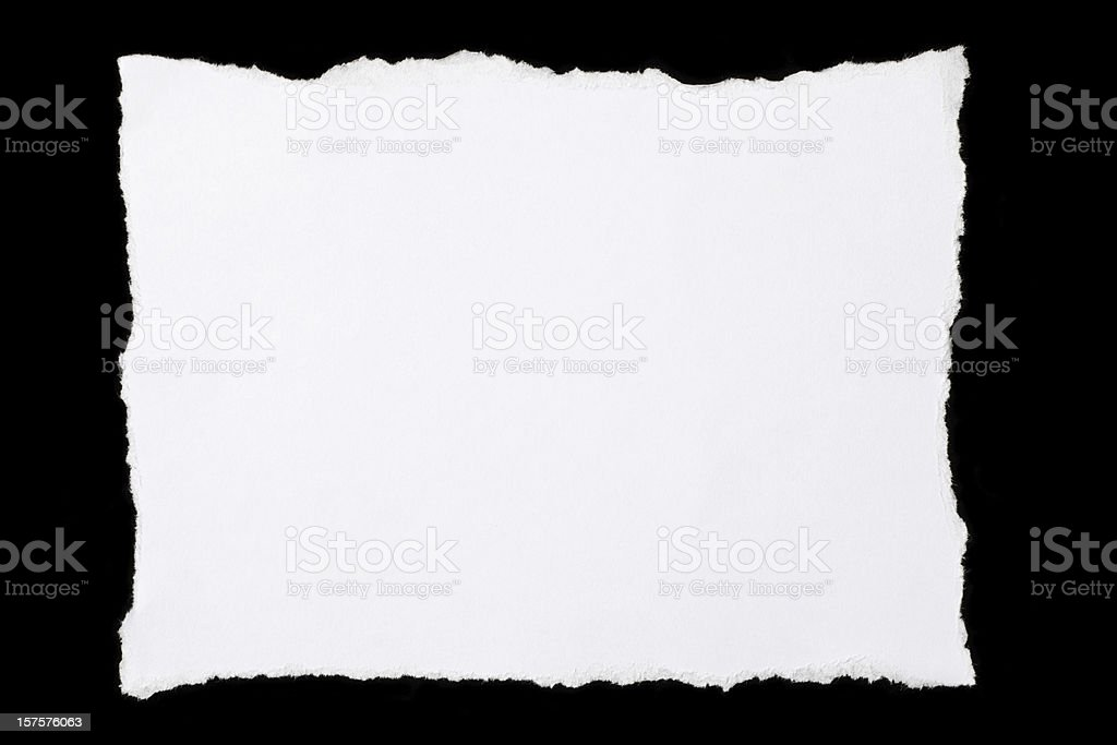 Pieces of torn paper royalty-free stock photo