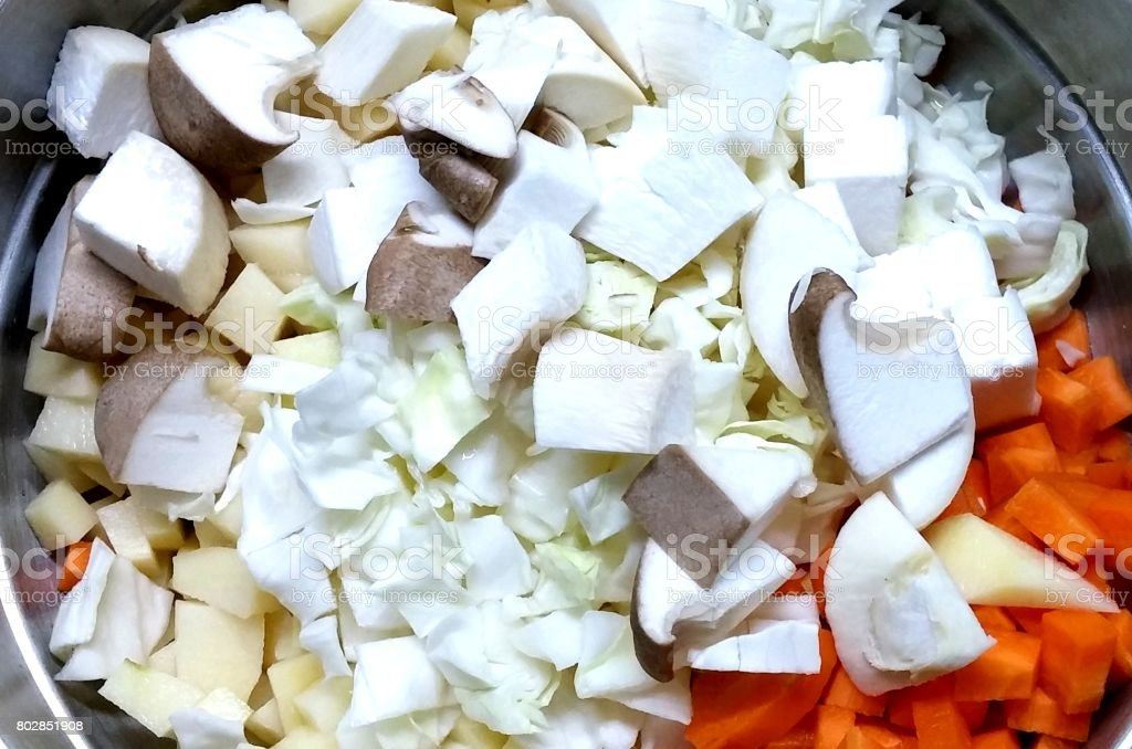 Pieces of vegetable stock photo