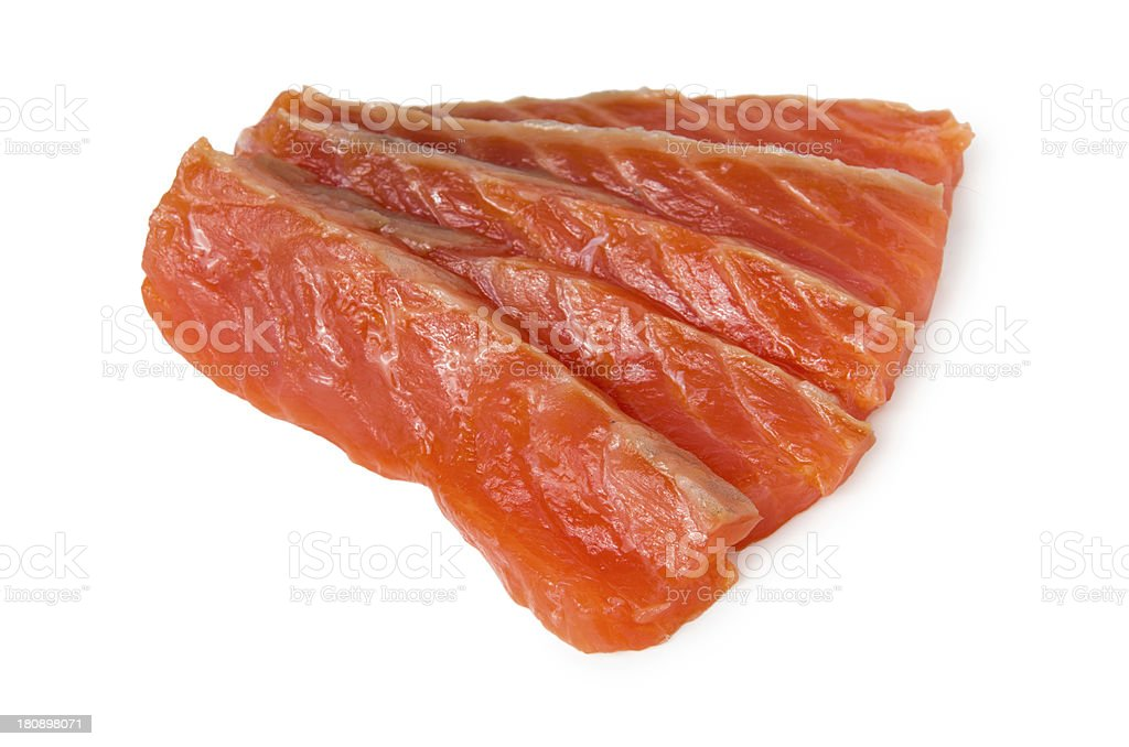 Pieces trout royalty-free stock photo