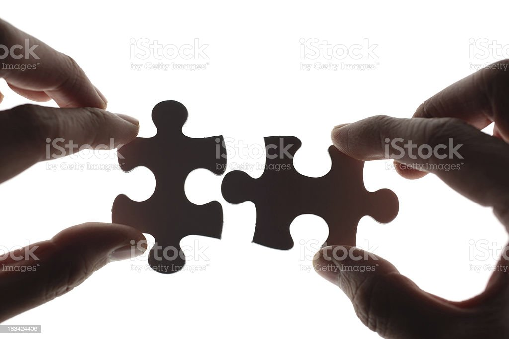 Piecing Together royalty-free stock photo