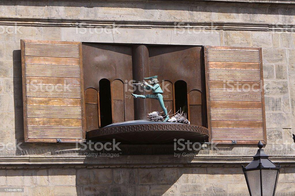 Pied Piper carillon in Hameln (Germany) stock photo
