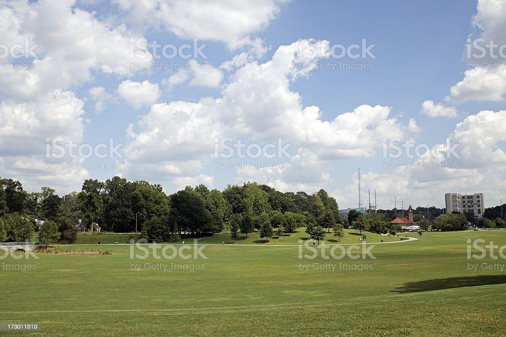 Piedmont Park Atlanta Georgia stock photo