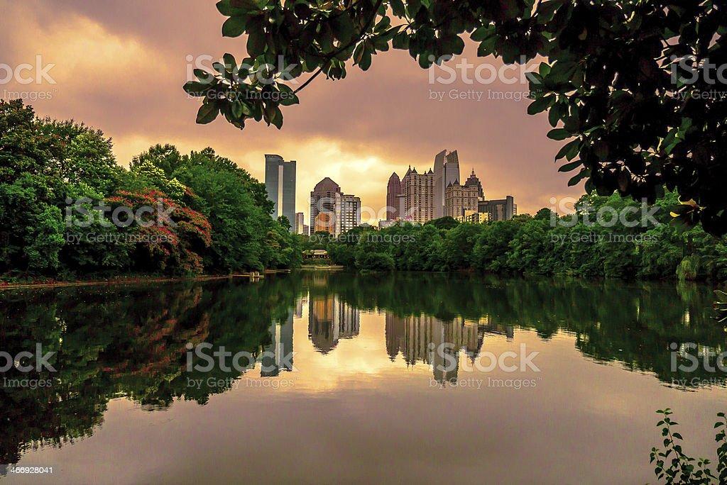 Piedmont Park, Atlanta Georgia stock photo