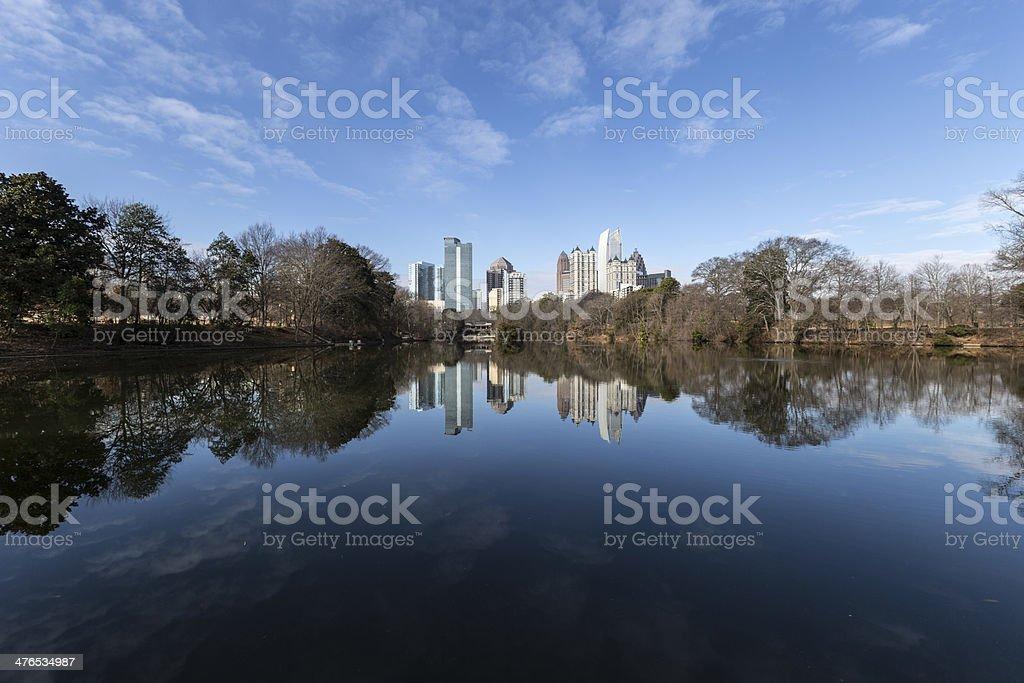 Piedmont Park Atlanta stock photo