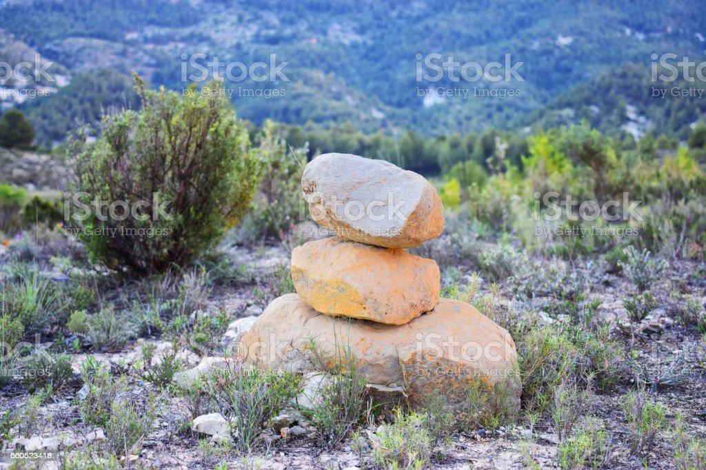 Piedras en equilibrio stock photo