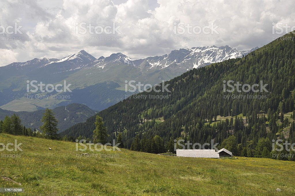 Piengalm at Nauders, Austria stock photo