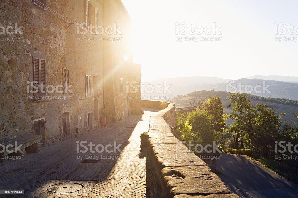 Pienza (Tuscany, Italy) royalty-free stock photo