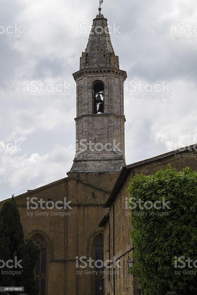 Pienza Village, Tuscany stock photo