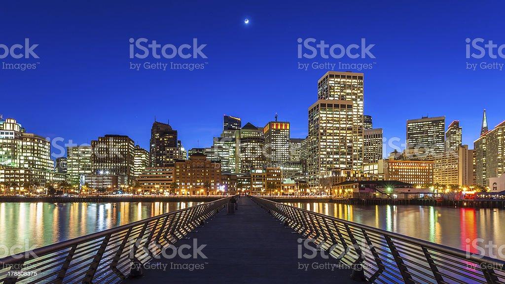 Pier 14 in San Francisco royalty-free stock photo