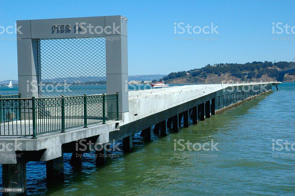 Pier 14 stock photo