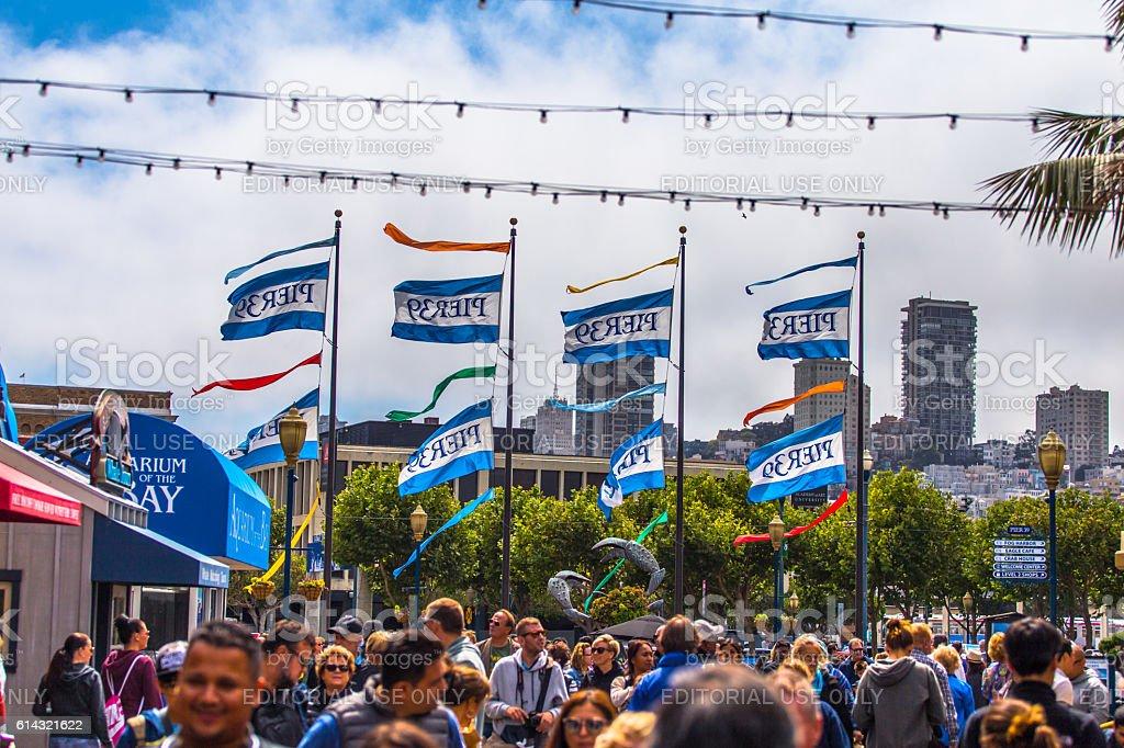 Pier 39 in San Francisco stock photo