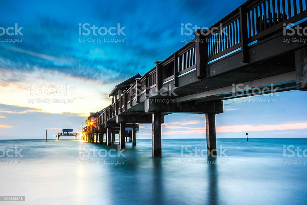 Pier 60 landmark of Clearwater Beach Florida stock photo