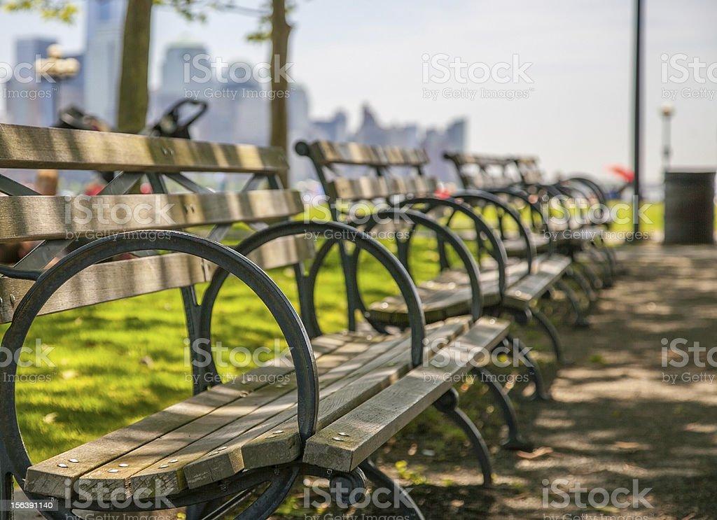 Pier A Park - Hoboken NJ stock photo
