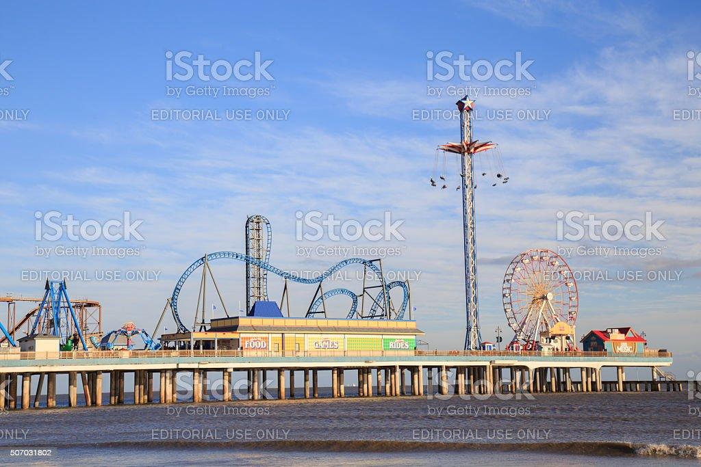 Pier amusement park stock photo