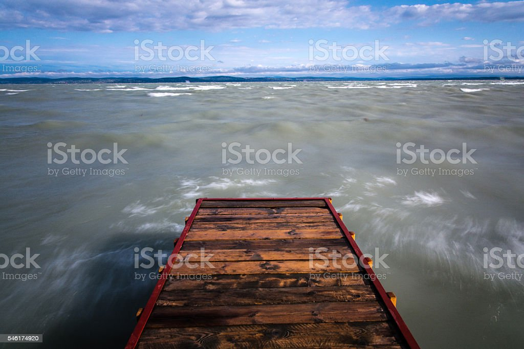 pier and lake stock photo
