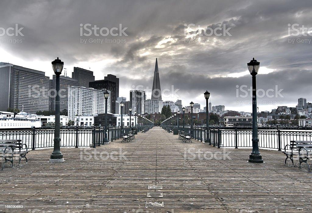 Pier and Skyline, San Francisco stock photo