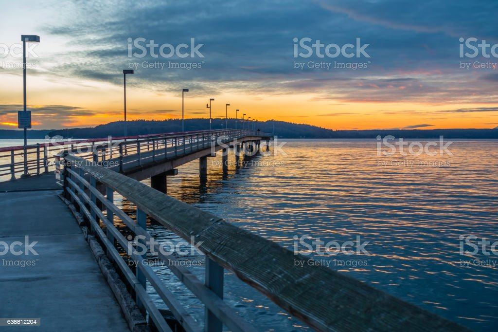Pier And Sunset 2 stock photo