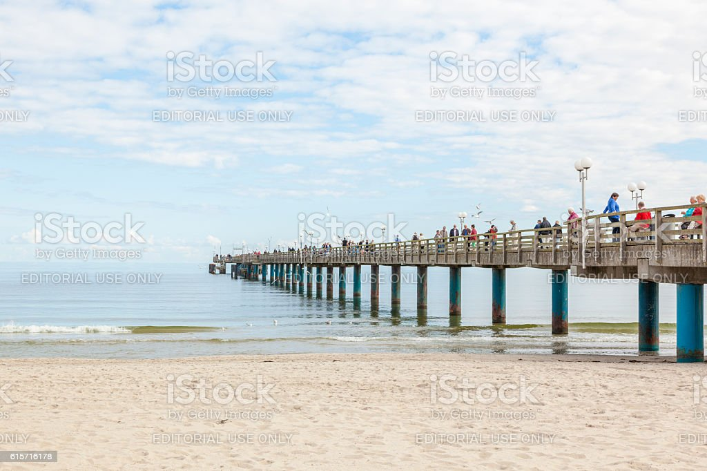 Pier at Binz, island of Ruegen stock photo