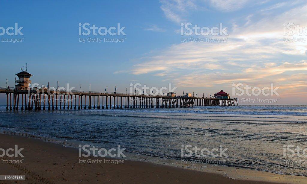 Pier At Dusk royalty-free stock photo