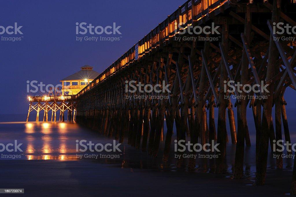 Pier at Folly Beach royalty-free stock photo