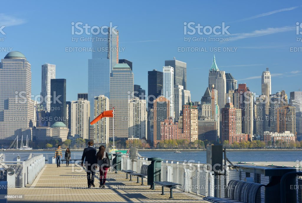 Pier at Jersey City stock photo