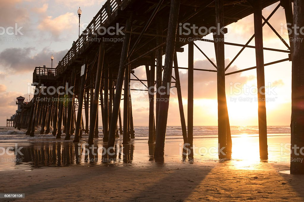 Pier at Oceanside California stock photo