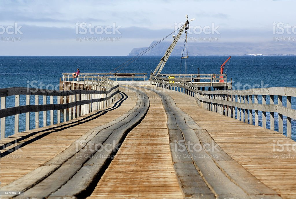 Pier at Santa Rosa Island stock photo