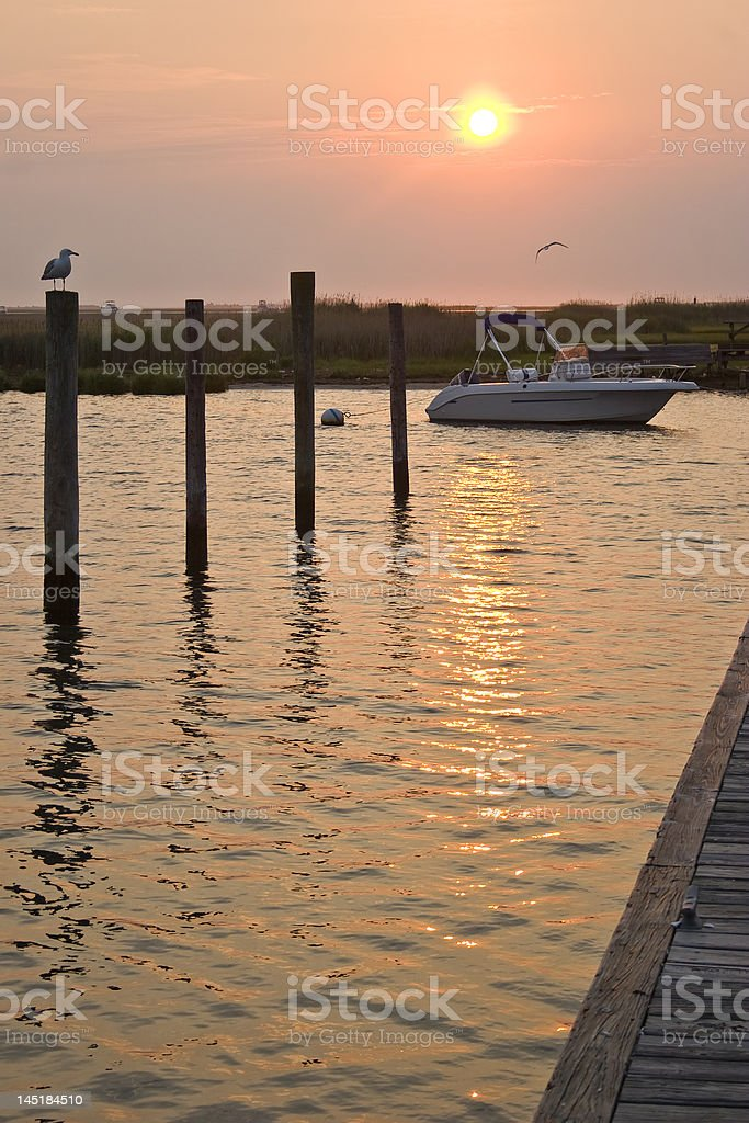 Pier at Sunrise 2. royalty-free stock photo