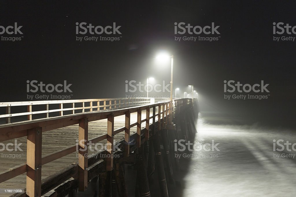 Pier at Sunset royalty-free stock photo