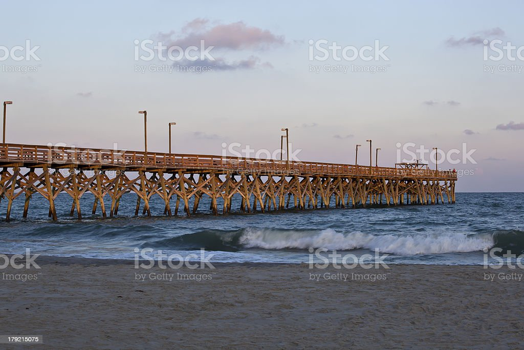 Pier at the Ocean royalty-free stock photo