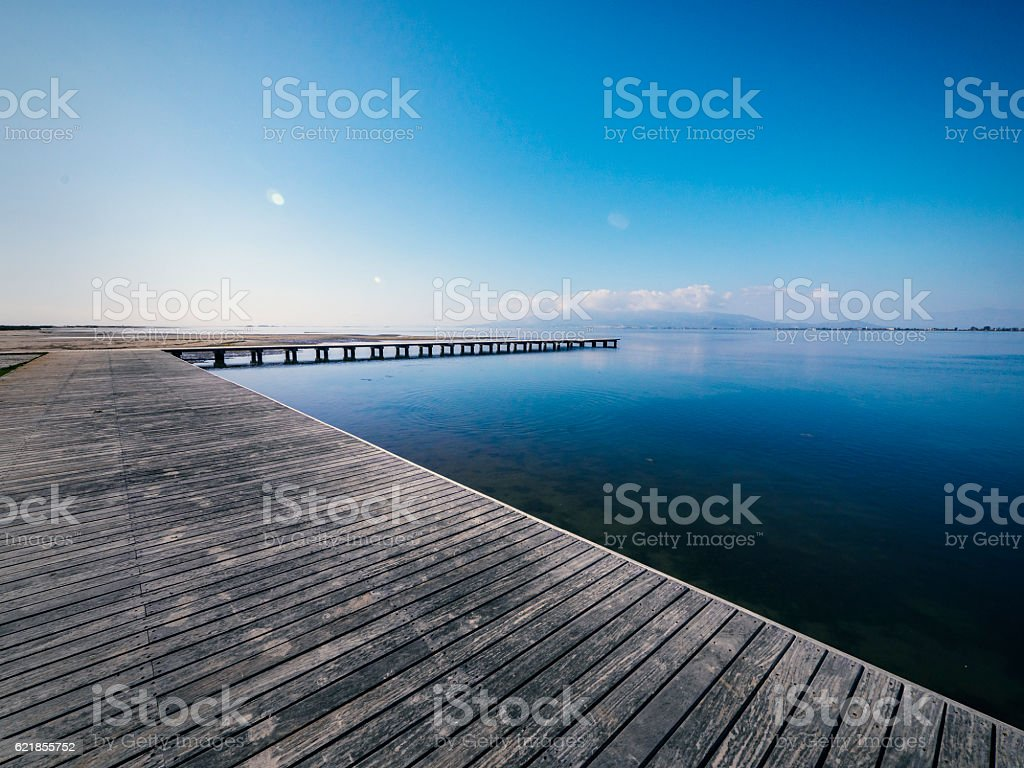 Pier at the sea stock photo