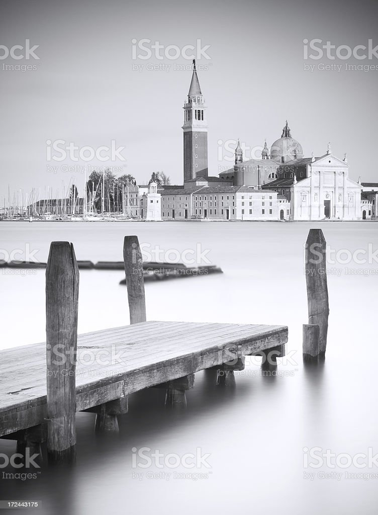 Pier at venice royalty-free stock photo