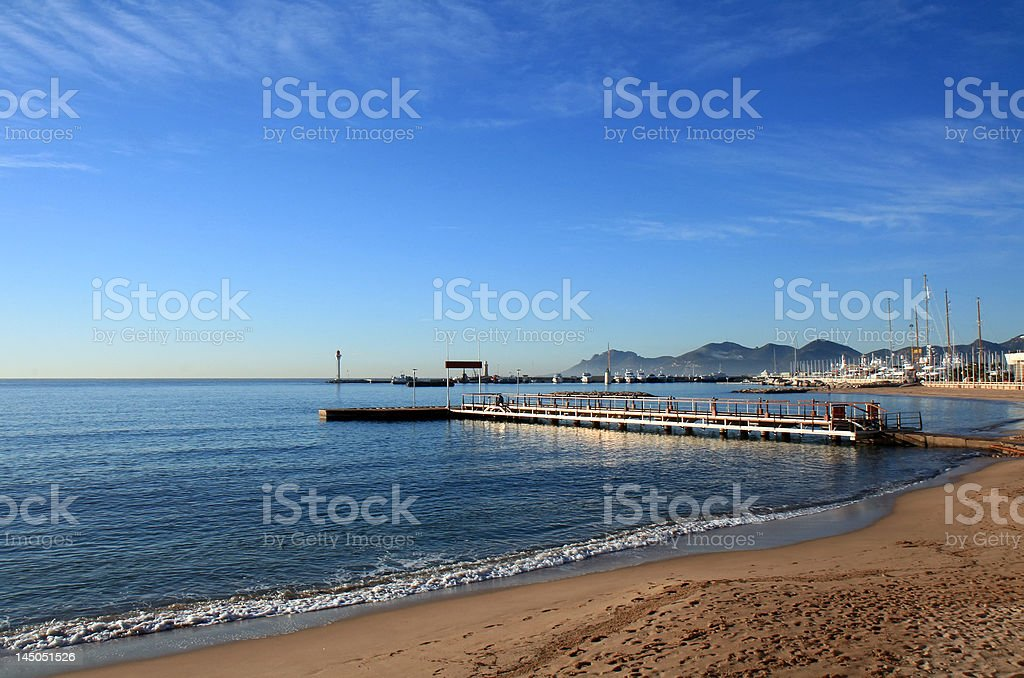 Pier By The Sea royalty-free stock photo