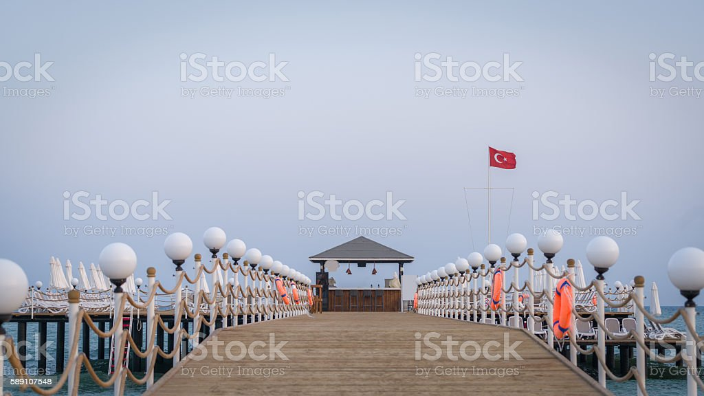 Pier Cafe stock photo