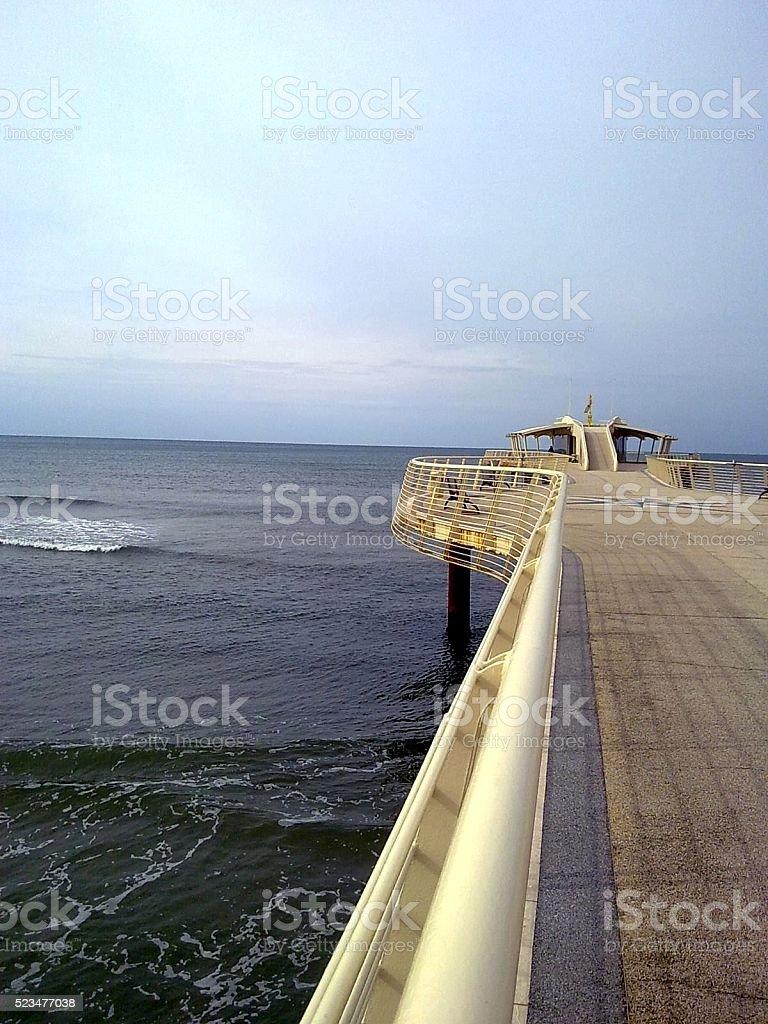 Pier design stock photo