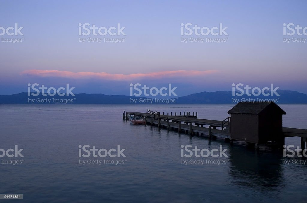 Pier During Sunset royalty-free stock photo