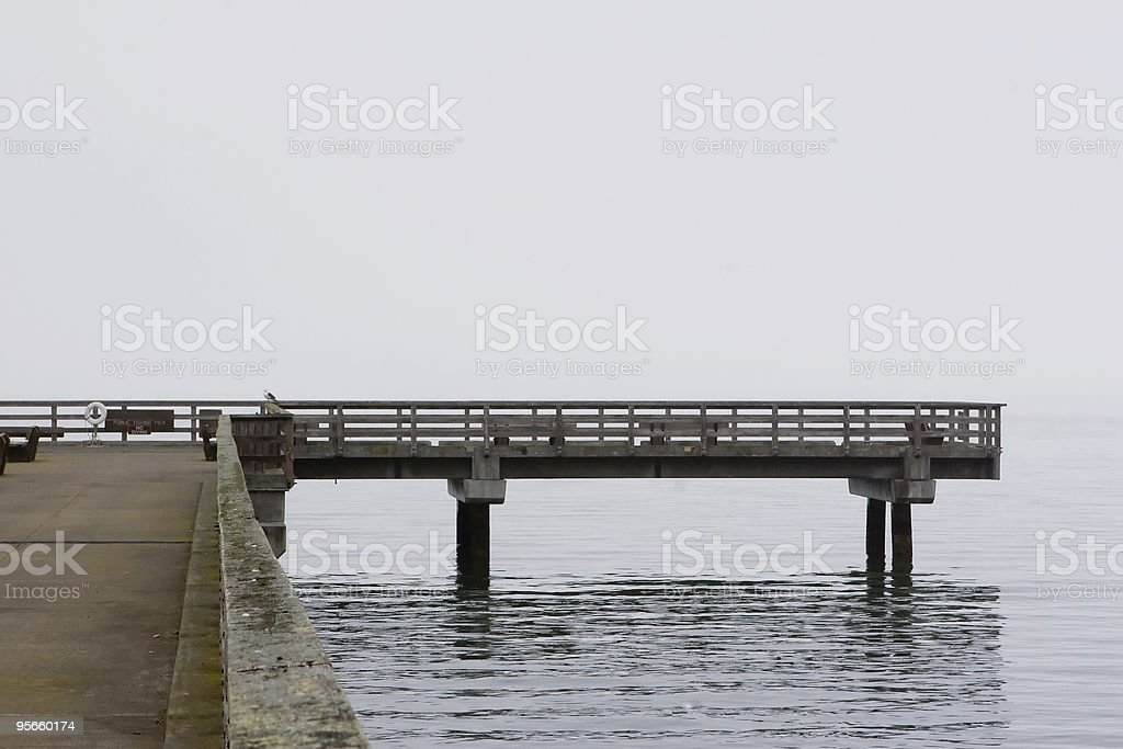 Pier End royalty-free stock photo