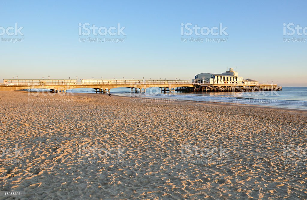 Pier from the Beach stock photo
